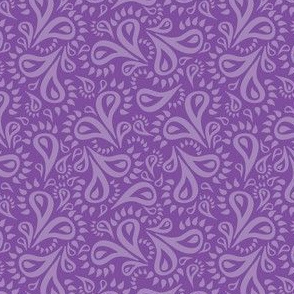Purple Paisley Flowers