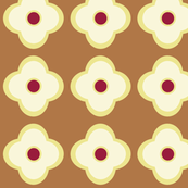 Floral Dots in Carmel (large)