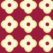 Floral Dots in Ruby (large)