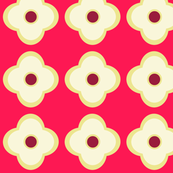 Floral Dots in Raspberry Glow (large)