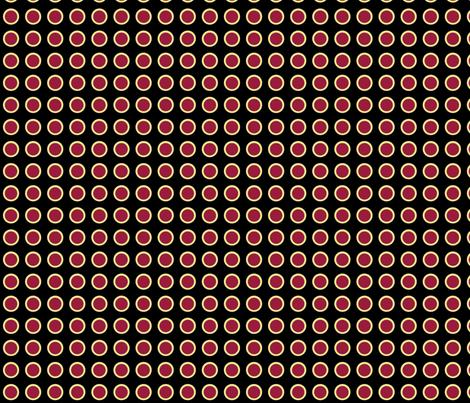 Polka Dots in Midnight fabric by rubydoor on Spoonflower - custom fabric
