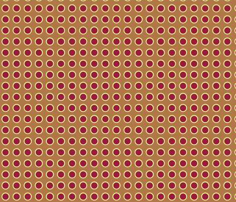 Polka Dots in Carmel fabric by rubydoor on Spoonflower - custom fabric