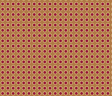 Polka Dots in Carmel fabric by rubydoor on Spoonflower - custom fabric