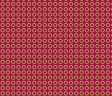 Polka Dots in Ruby fabric by rubydoor on Spoonflower - custom fabric