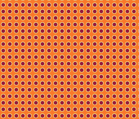 Polka Dots in Tangerine fabric by rubydoor on Spoonflower - custom fabric