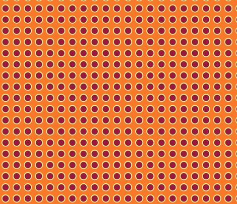 Polka Dots in Tangerine fabric by rubydoor on Spoonflower - custom fabric