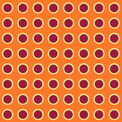 Polka Dots in Tangerine