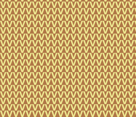 Zigzag Triangles in Carmel fabric by rubydoor on Spoonflower - custom fabric