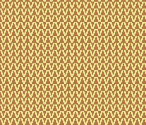 Zigzag Triangles in Carmel fabric by rubydoor on Spoonflower - custom fabric