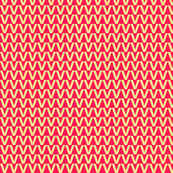 Zigzag Triangles in Raspberry Glow