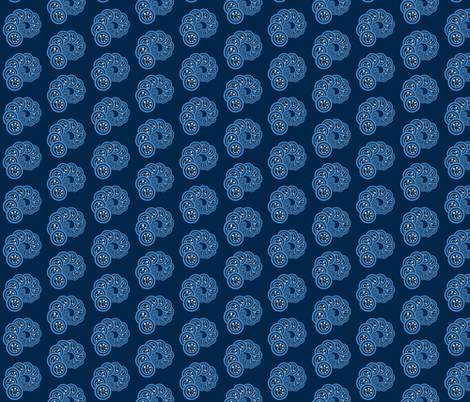 spiral_geo-navy, blue, white fabric by anino on Spoonflower - custom fabric