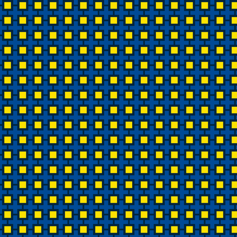 Family Feud (Blue/Yellow) fabric by shannonmac on Spoonflower - custom fabric