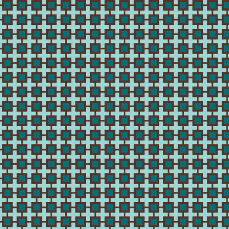 Family Feud (Blue-green/Brown) fabric by shannonmac on Spoonflower - custom fabric