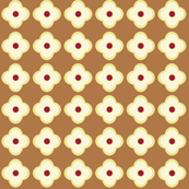 Floral Dots in Carmel (small)