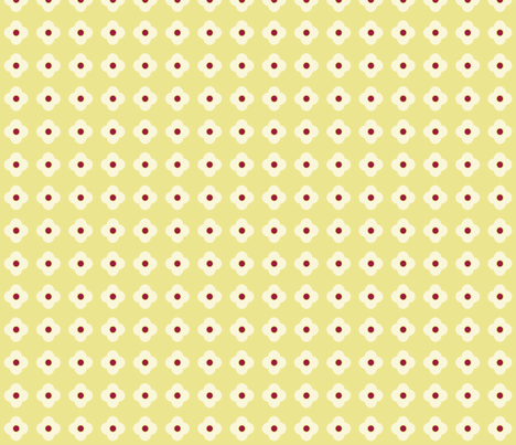 Floral Dots in Gold (small) fabric by rubydoor on Spoonflower - custom fabric