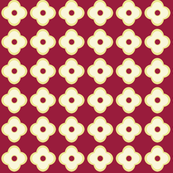 Floral Dots in Ruby (small)