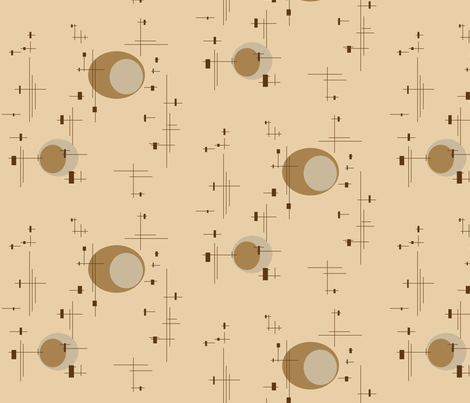 globe fabric by retroretro on Spoonflower - custom fabric
