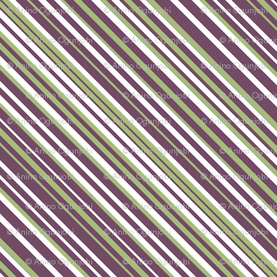 diagonal stripe carlos- green, plum, white