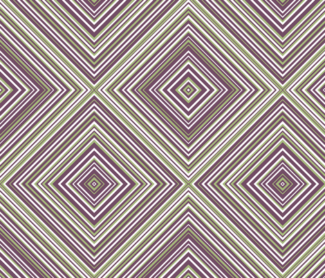 diagonal stripe carlos- green, plum, white fabric by anino on Spoonflower - custom fabric