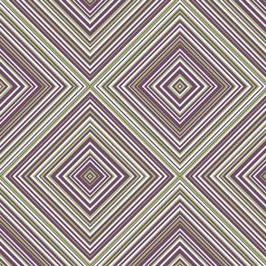 diagonal stripe carlos- green, plum, white
