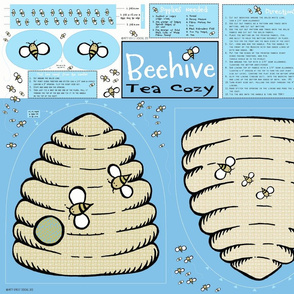 Beehive Tea  Cozy (blue)