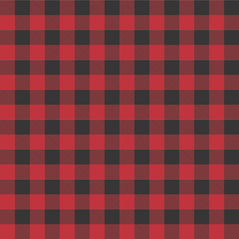 Buffalo Check - Red fabric by thecalvarium on Spoonflower - custom fabric