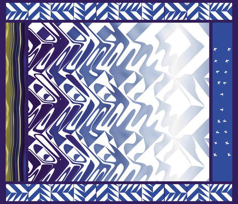 Cobalt Lake fabric by animotaxis on Spoonflower - custom fabric