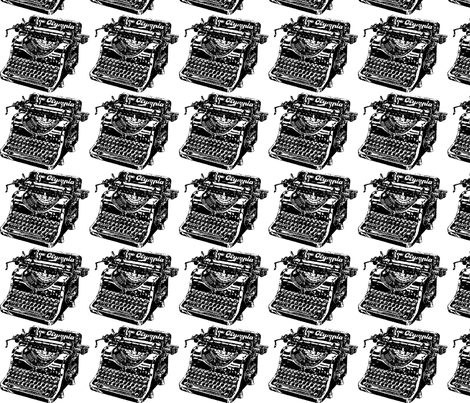 Old_typewriter_image fabric by swtlorraine on Spoonflower - custom fabric