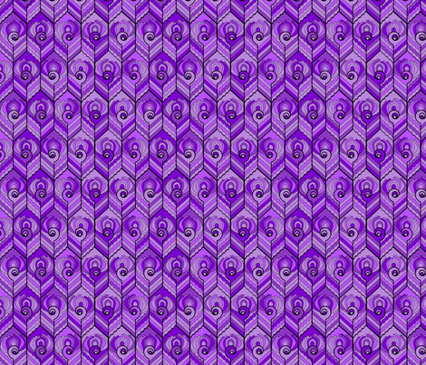 Art Deco Peacock - Damson fabric by jasmo on Spoonflower - custom fabric
