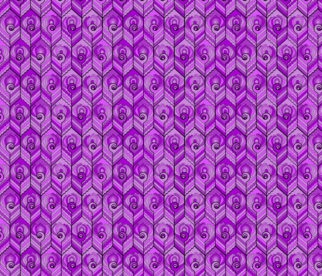 Art Deco Peacock - Plum fabric by jasmo on Spoonflower - custom fabric
