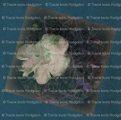 Distressed Fungi Floral Block Peacock-ed