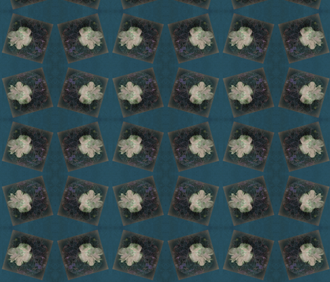 Distressed Fungi Floral Block Peacock-ed fabric by tequila_diamonds on Spoonflower - custom fabric