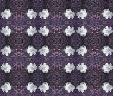 Fungi Floral Purple fabric by tequila_diamonds on Spoonflower - custom fabric
