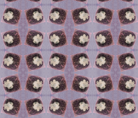 Distressed Fungi Floral Purple Block fabric by tequila_diamonds on Spoonflower - custom fabric