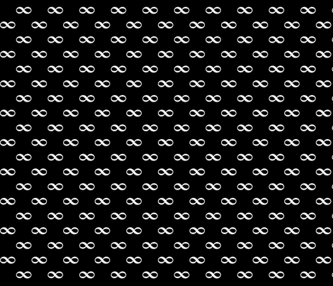 infinity as bowtie on black fabric by weavingmajor on Spoonflower - custom fabric