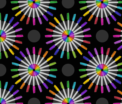 Spinning Markers fabric by dianef on Spoonflower - custom fabric