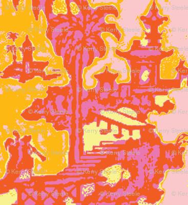 Escher pagoda trendy tangerine