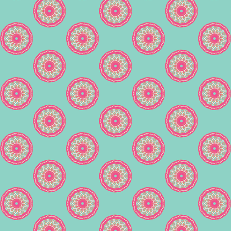 circle fancy aqua fabric by kerryn on Spoonflower - custom fabric