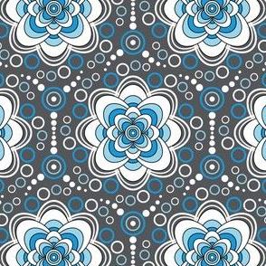 Bubbles in Bloom-blue