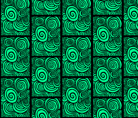 Green Spirals fabric by catherinewise on Spoonflower - custom fabric