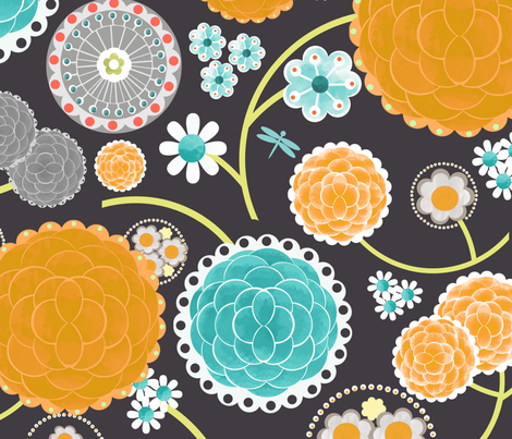 Rita Flowers fabric by natitys on Spoonflower - custom fabric