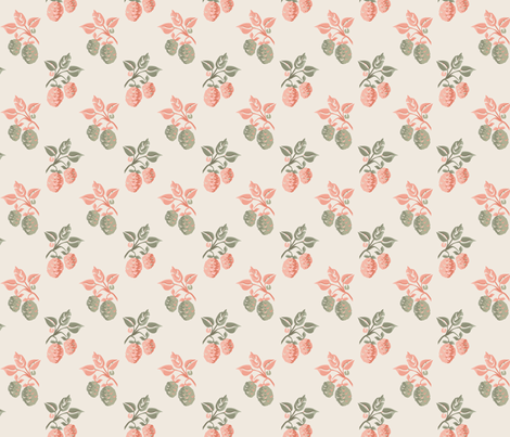 Marie Antoinette Strawberries V2 fabric by mellymellow on Spoonflower - custom fabric