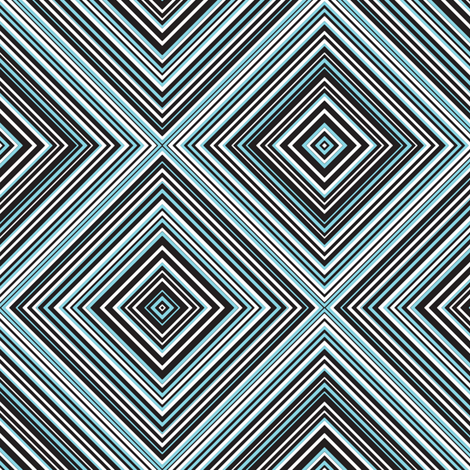 diagonal stripe_carlos_ black, white, aqua fabric by anino on Spoonflower - custom fabric