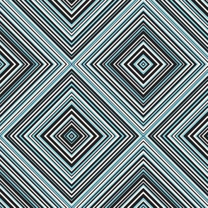diagonal stripe_carlos_ black, white, mint, aqua