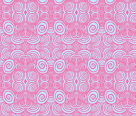 Soft lavender pink spirals fabric by catherinewise on Spoonflower - custom fabric