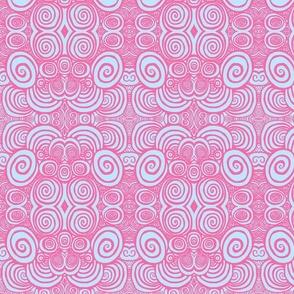 Soft lavender pink spirals