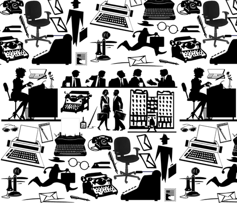 RETRO OFFICE fabric by bluevelvet on Spoonflower - custom fabric