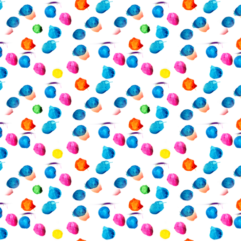 Hand Painted Colorful Polka Dots fabric by bohobear on Spoonflower - custom fabric