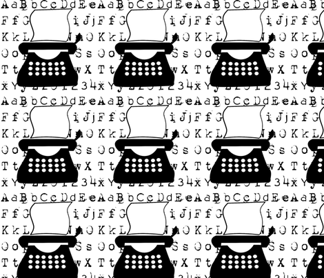 typewriter fabric by suziwollman on Spoonflower - custom fabric