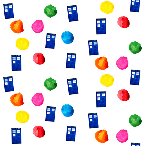 Doctor Who Inspired Polka Dot TARDIS